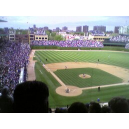 The view of Wrigley from my seat